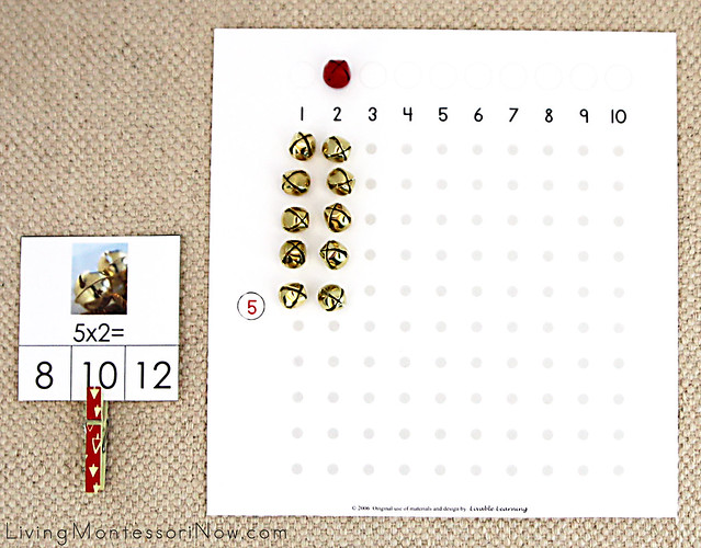 Multiplication Board with Bells Layout