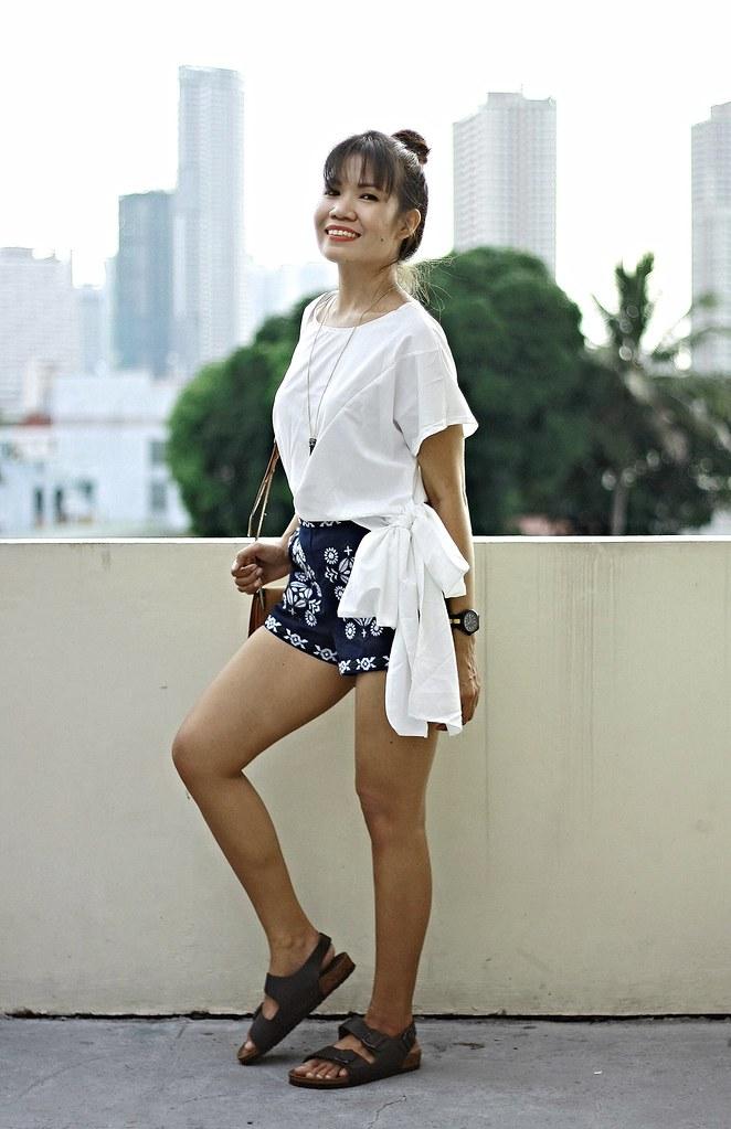 embroisery shorts sammydress