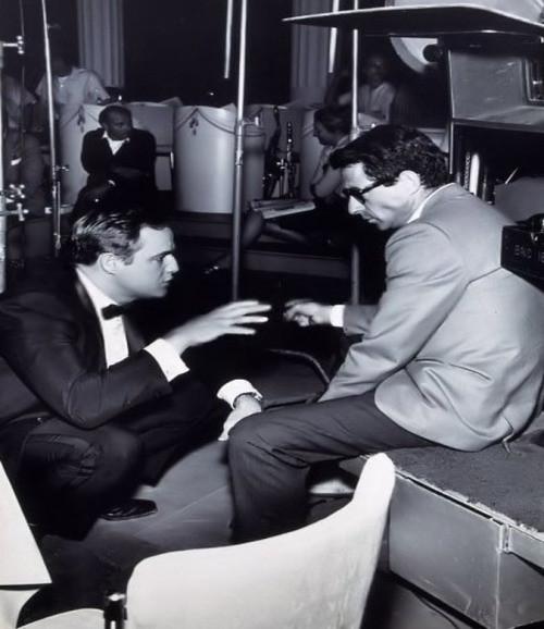 The Chase - 1966 - Backstage - Marlon Brando and Arthur Penn