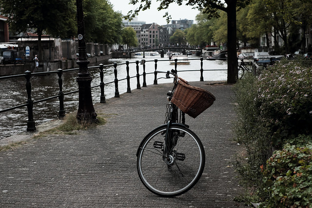Bike at canal in Amsterdam 34