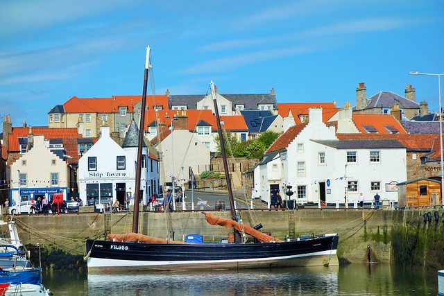 Fife Sailing Herring Drifter at Anstruther, Fife, Scotland.