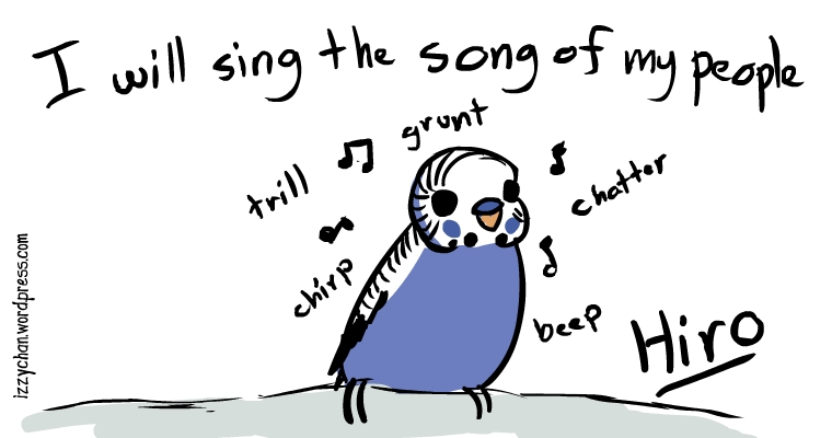 foster friday hiro budgie will sing the song of my people