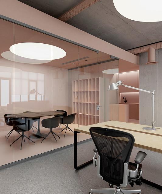 Pink office design in Ukraine by Emil Dervish Sundeno_03