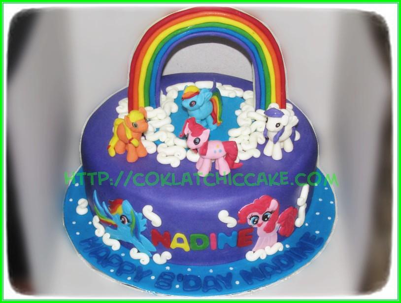 Cake My Little Pony Nadine Coklatchic Cake