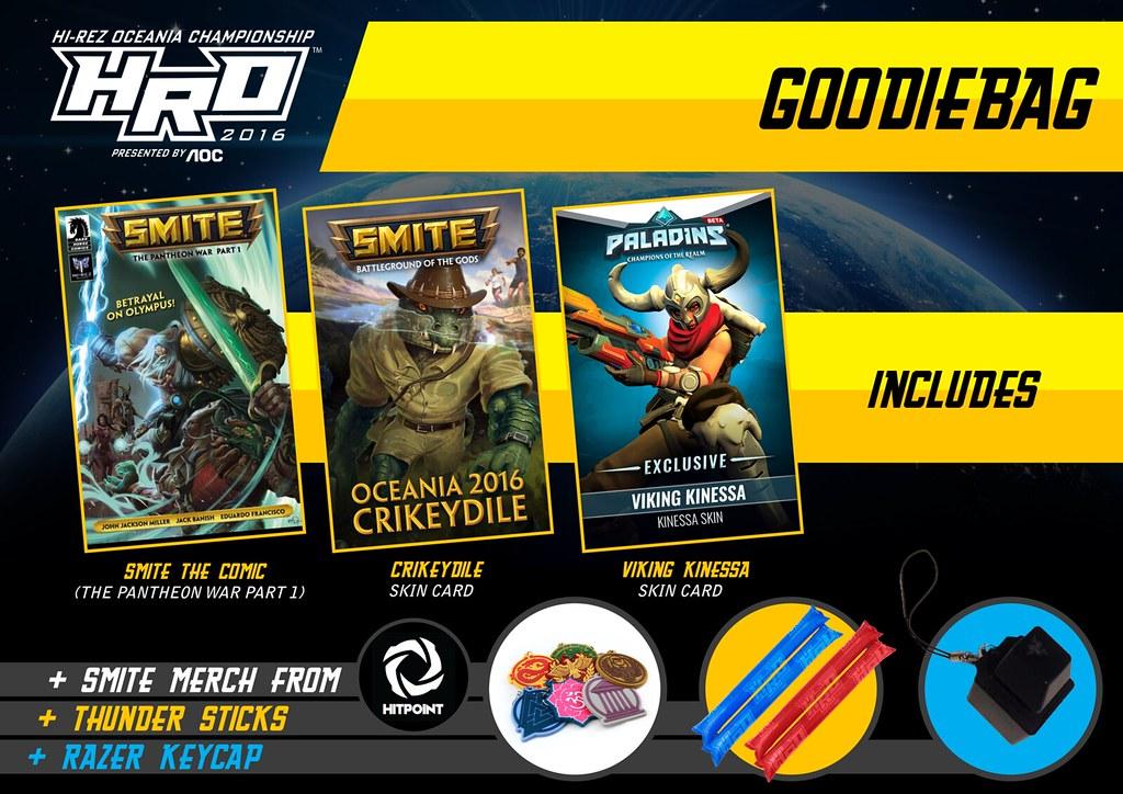 Goodie Bag Hi-Rez Oceania Championships 2016