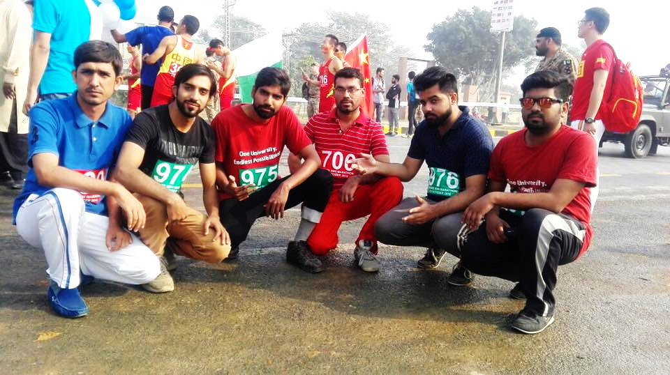 Hajvery University Students participated in Marathon 2016