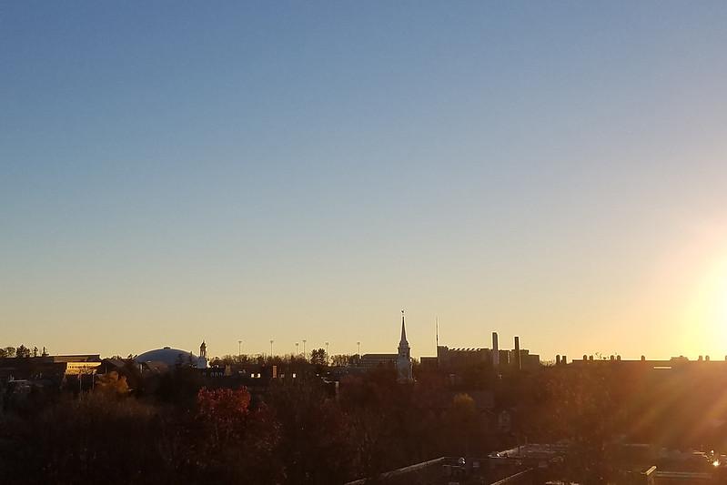 Storrs skyline at sundown