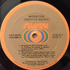 CREATIVE SOURCE:MIGRATION(LABEL SIDE-A)