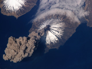 NASA Photo of Cleveland Eruption of Volcano in the Aleutian Islands | by buiram