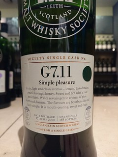 SMWS G7.11 - Simple pleasure