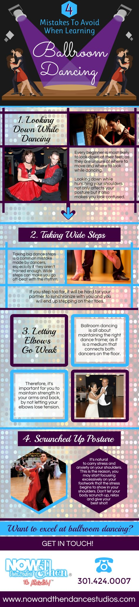 4 Mistakes to Avoid When Learning Ballroom Dancing - Infograph