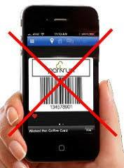 No barcodes on phones