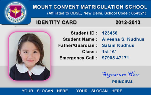 School id card templates school id card template for School id badge template