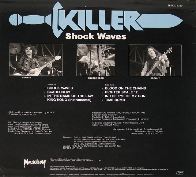 "KILLER SHOCK WAVES 12"" LP"