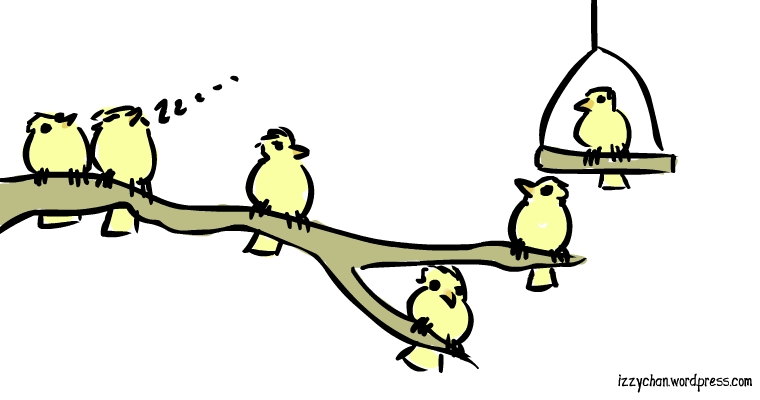 flock of yellow birds
