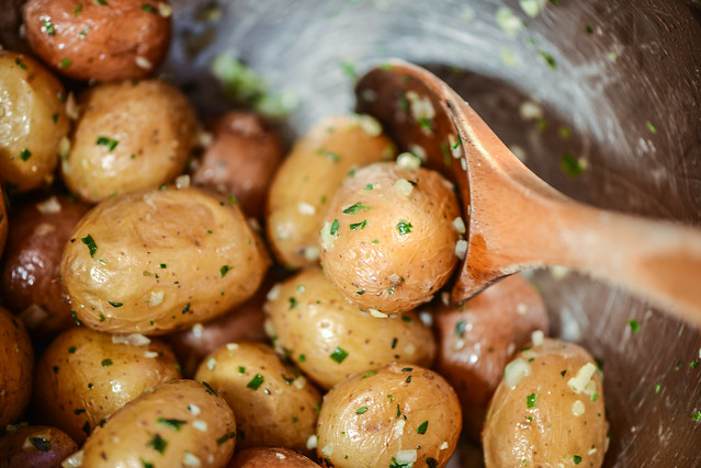 Crisp Grill-Roasted New Potatoes