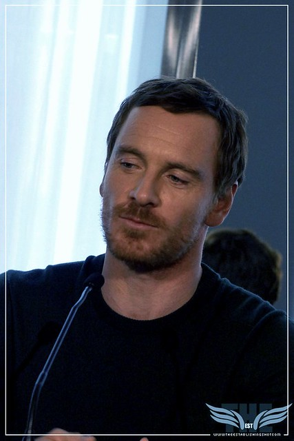 The Establishing Shot:  THE LIGHT BETWEEN OCEANS PRESS CONFERENCE - MICHAEL THE MAN FASSBENDER - CLARIDGE'S, LONDON