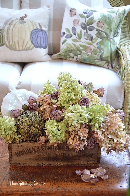 Sunroom - Fall - Hydrangeas - Housepitality Designs