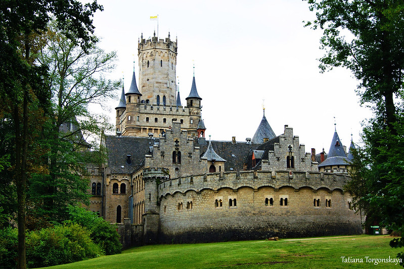 Вид на замок Мариенбург