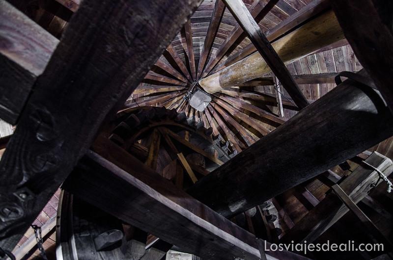 maquinaria de un molino de viento en Alcázar de San Juan