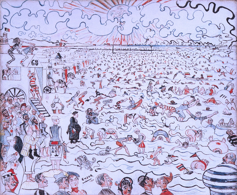 James Ensor - The Baths at Ostende, 1889