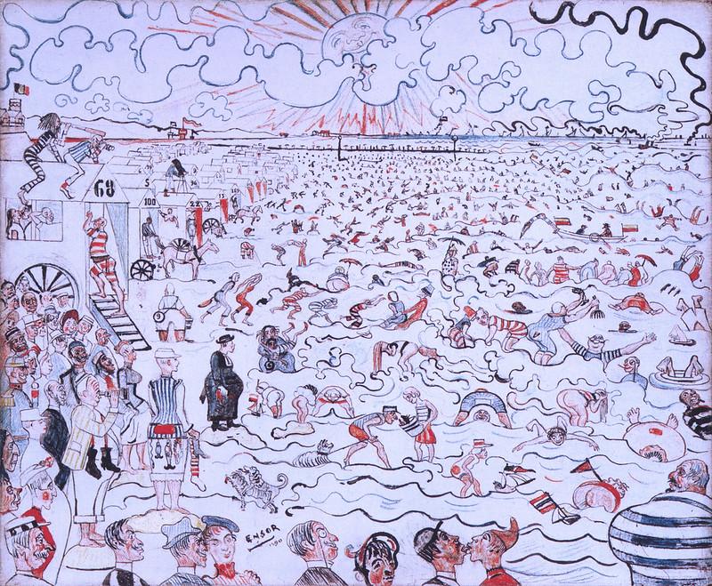 James Ensor - The Baths at Ostende, 1889
