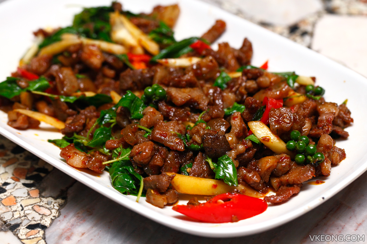 Ja Toi Pattaya Spicy Stir Fried Wild Boar