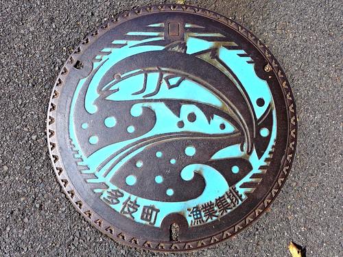 Taki Shimane, manhole cover 2 (島根県多伎町のマンホール2)