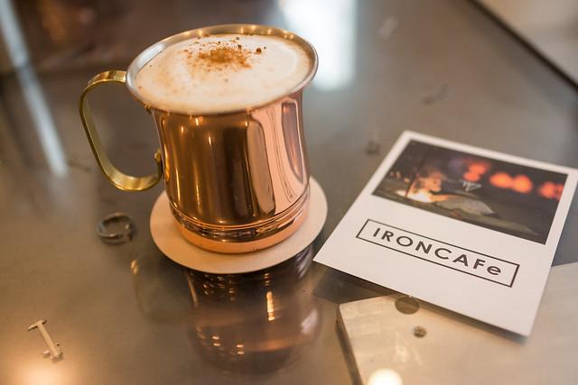 銅製のコーヒーカップ