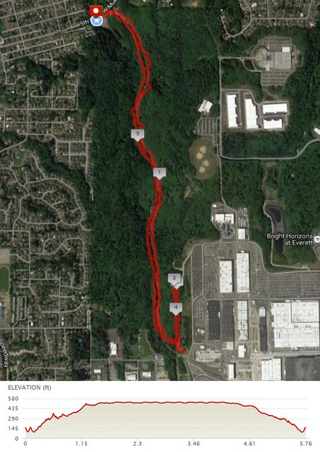 Today's awesome walk, 5.76 miles in 1:59, 12,880 steps, 429ft gain