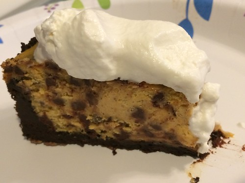 Chocolate Chip Pumpkin Cheesecake