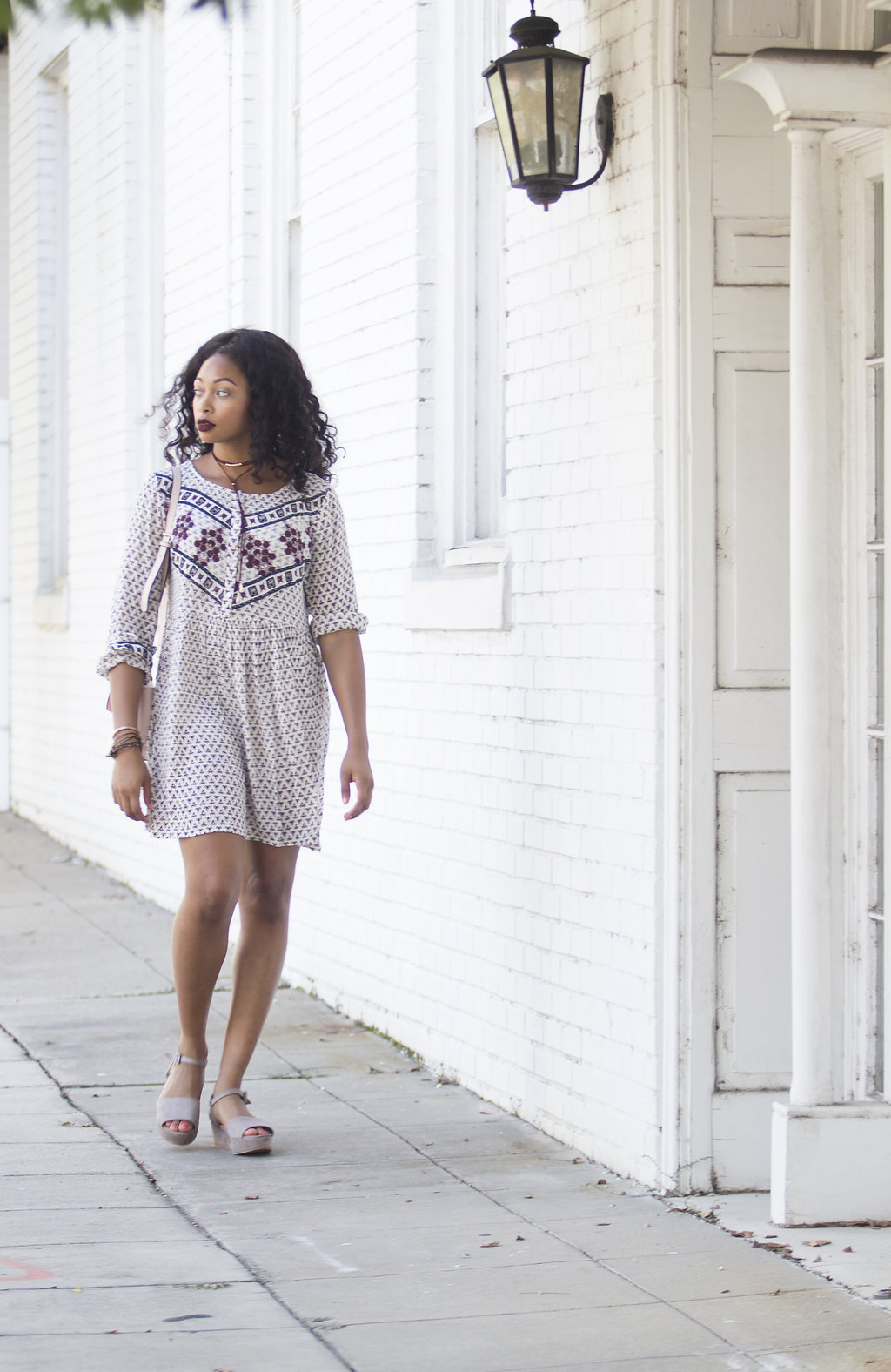 how to wear a shift dress in the fall, candace hampton