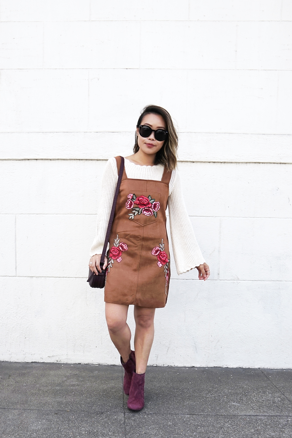 04hushpuppies-suede-boots-pinafore-floral-embroidery-fall-fashion-style