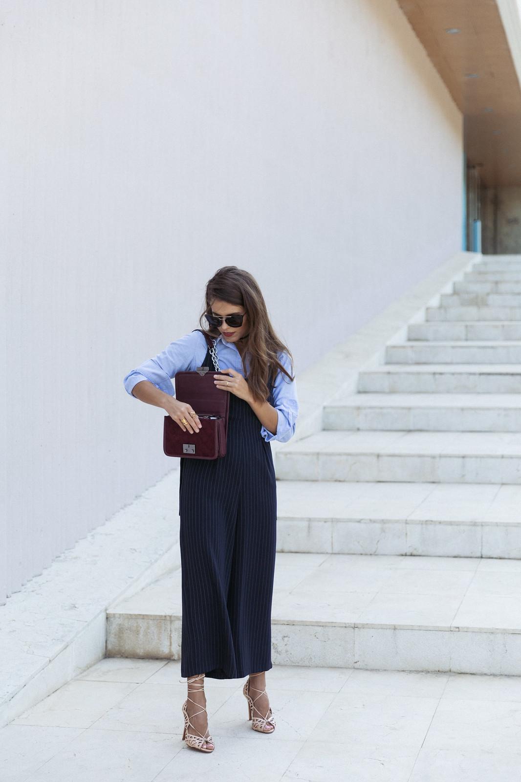 Jessie Chanes Seams for a desire - Pinstripped suit topshop heeled sandals schutz parfois bag  -5