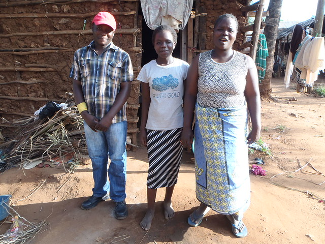 Saidi with his mother and young sister