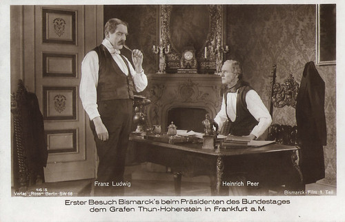 Franz Ludwig and Heinrich Peer in Bismarck (1925)