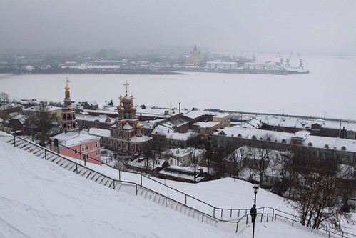 Looking west over the Oka River in Nizhny Novgorod