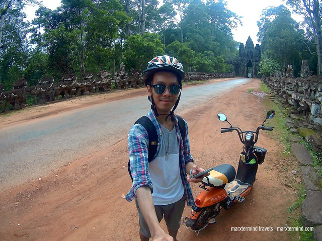 marxtermind E-bike at Angkor Archaeological Park Siem Reap