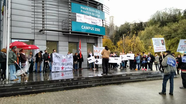 """Action à Liège : """"Le travail social n'est pas un outil du capital"""""""