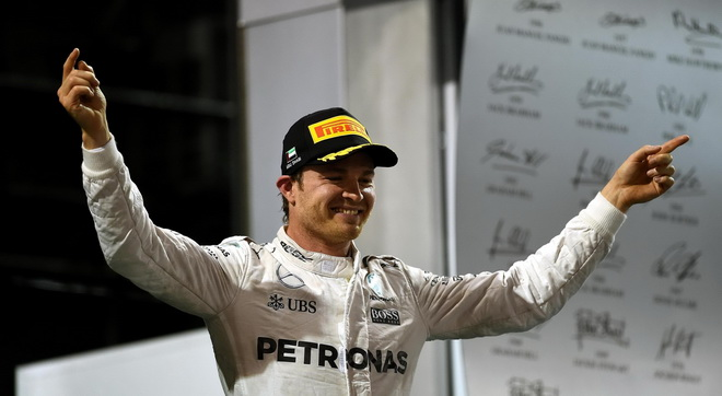 MERCEDES AMG PETRONAS 車手Nico Rosberg於阿布達比站獲得F1生涯首座年度車手冠軍