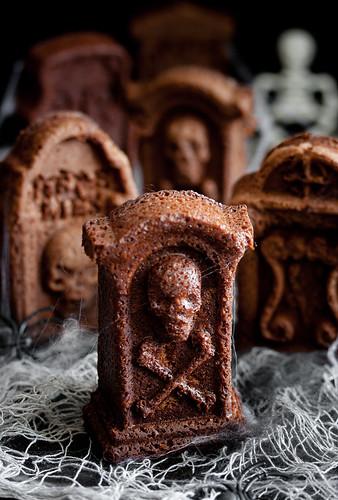 Chocolate Brandy and Coffee Tombstone Cake