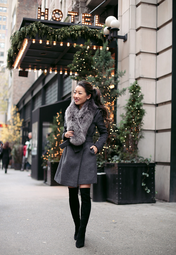 wrap winter wool coat nyc ace hotel extra petite