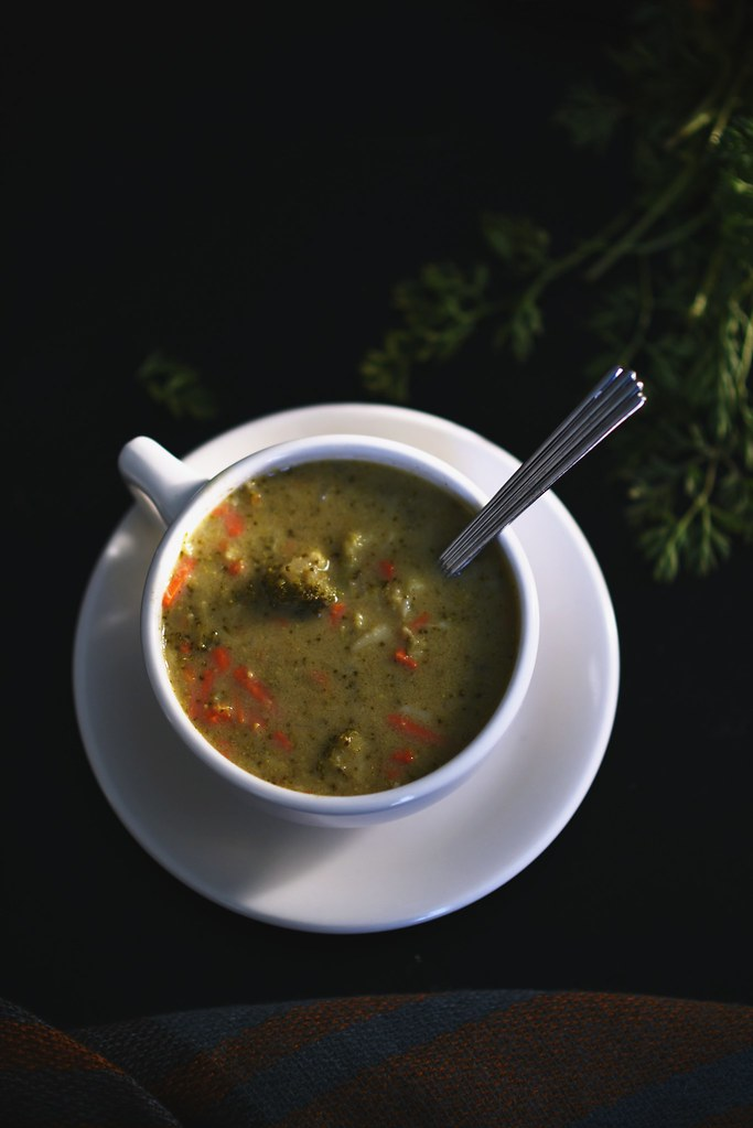 Curried Broccoli & Cheese Soup