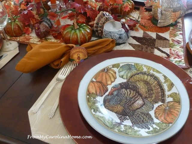 Thanksgiving Tablescape 2016 at From My Carolina Home