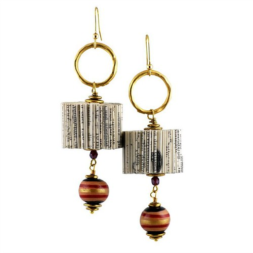 Giovannina Handmade Folded Book Earrings by Crizu