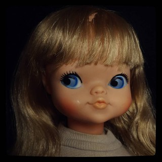 Another cloth-body doll to take care of: #RoyalDolls #Gooch, 1972. First stage cleaning is done. For #365days project, 338/365.