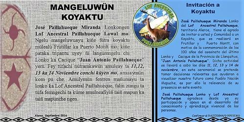 Invitación Koyagtun - Alerce 2016