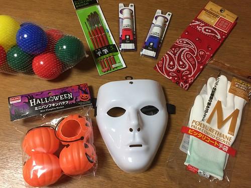 ハロウィンパーティーのドラえもんマスクの材料