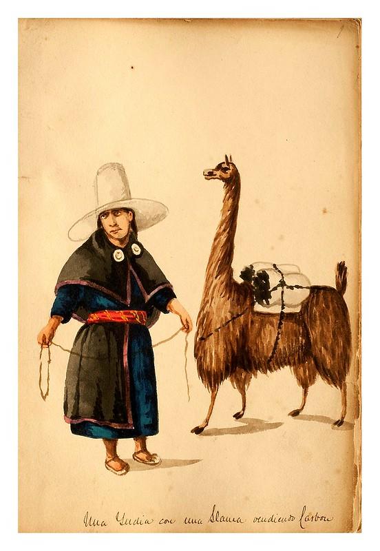 007-Tipos de Lima- Pancho Fierro- 1850-60- Museo de Bellas Artes Argentina.
