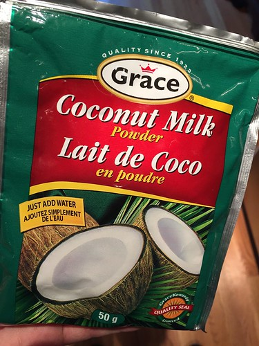 Powdered coconut milk. WHO KNEW.